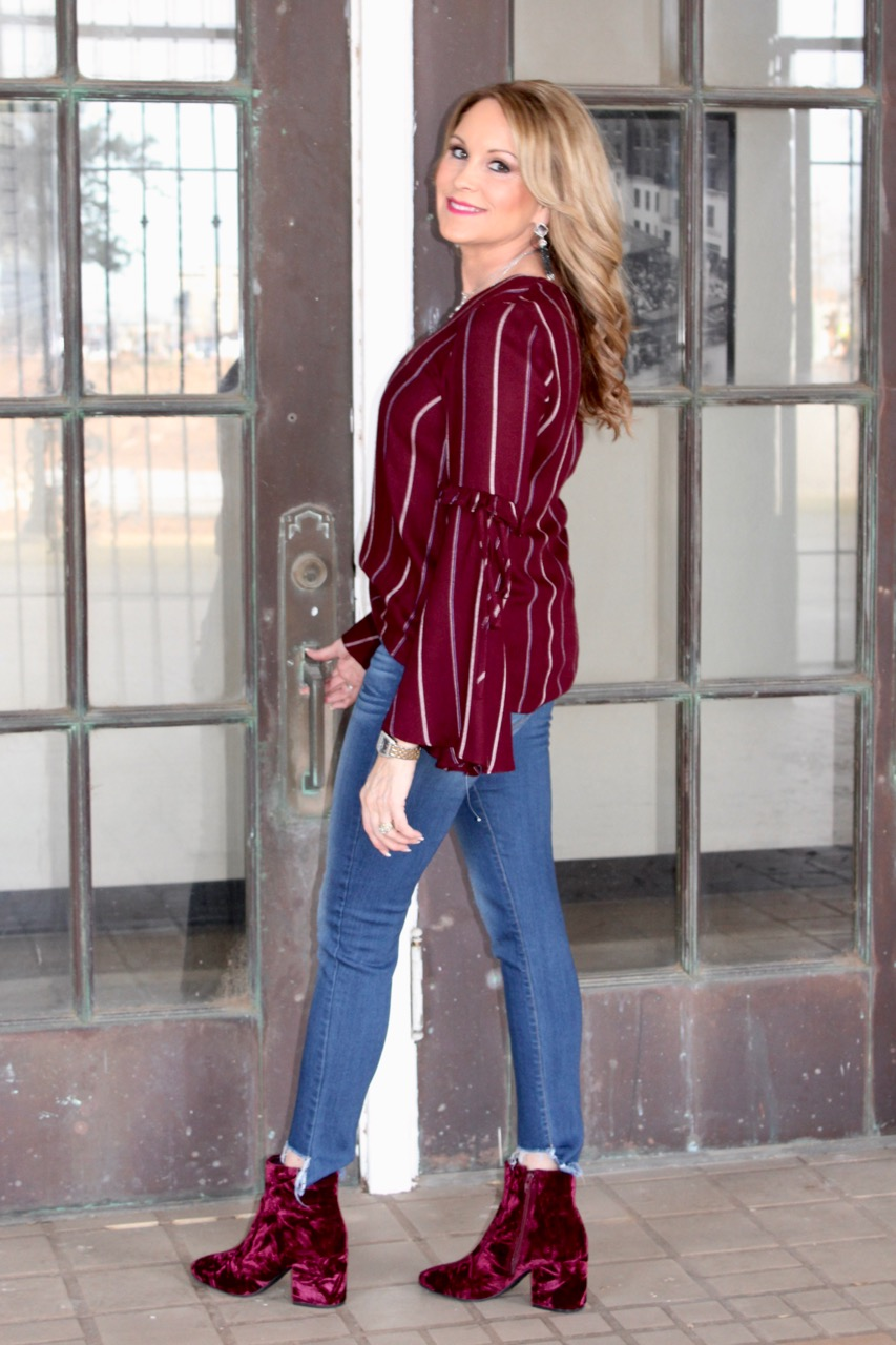 Daily Instagram Post: Burgundy top