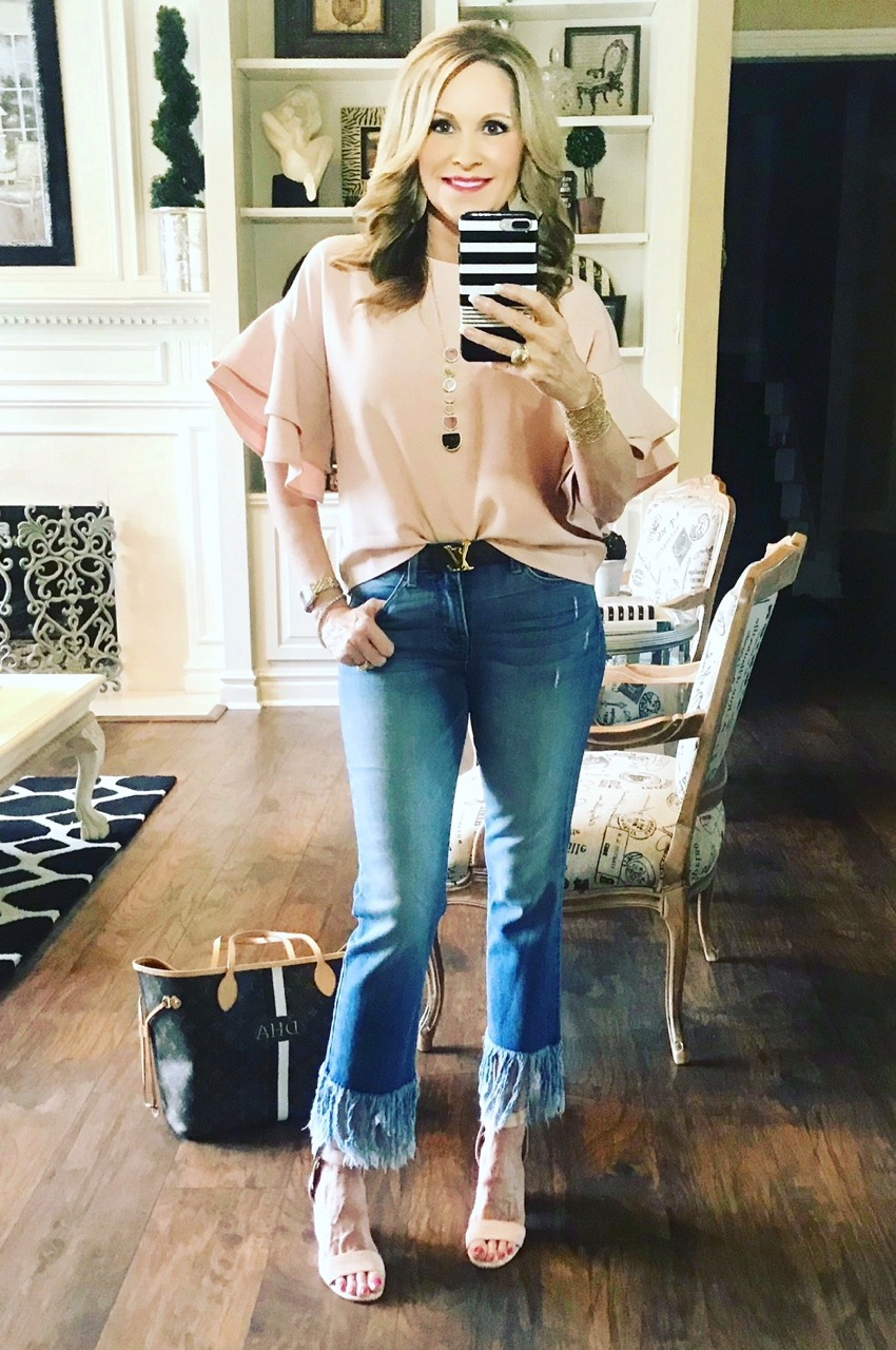 Instagram Post: Blush top and shoes!